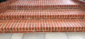 Brick steps and patio cleaning