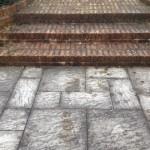 Brick steps pressure cleaning